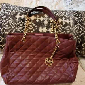 Quilted leather michael Kors